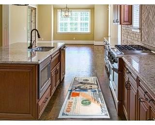 MSRUGS Print Bath Mat Absorbent Soft Kitchen Floor Area Rug Non-slip Carpet
