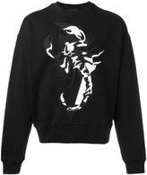 Diesel Black Gold lobster print sweatshirt