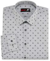 Jf J.Ferrar Easy-Care Solid Long Sleeve Broadcloth Stripe Dress Shirt - Slim