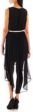 Amy Byer Byer California by & by Sleeveless Belted High-Low Dress