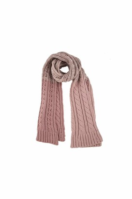Dents Womens Ombre Cable Knit Scarf - Pink One Size Pink