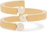 Chloé Darcey Gold-plated Swarovski Pearl Cuff - S/M