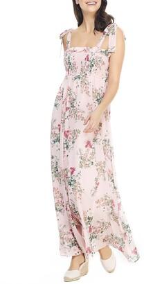 Gal Meets Glam Melody Floral Chiffon Maxi Dress