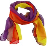 Generic Silk Oblong Scarf Gradient Color Shawl