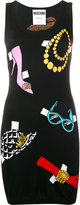 Moschino intarsia knitted mini dress - women - Cotton - 40