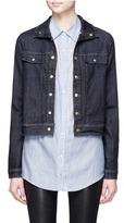 Frame 'Le Cropped' stand collar denim jacket