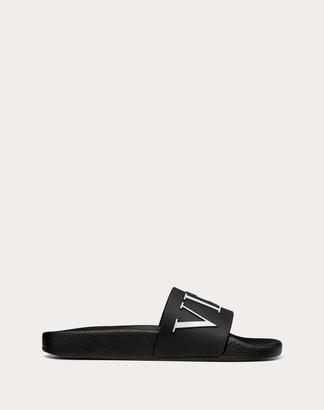 Valentino Vltn Rubber Slide Sandal Women Black Pvc - Polyvinyl Chloride 100% 36