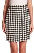 Akris Linen Houndstooth Skirt