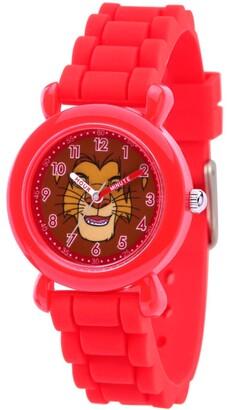 EWatchFactory Disney Lion King Simba Boys' Red Plastic Watch 32mm