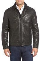 Andrew Marc Men's 'Exeter' Lambskin Leather Trucker Jacket