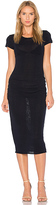 James Perse Shirred Cap Sleeve Dress in Navy. - size 0 (XXS/XS) (also in 2 (S/M))