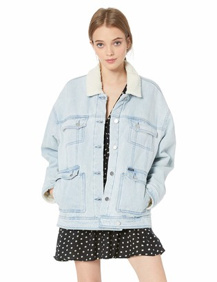 Volcom Junior's Women's Oversized Woodstone Denim Jacket