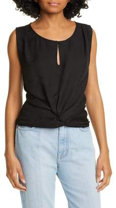 Joie Knotted Slub Jersey Tank Top