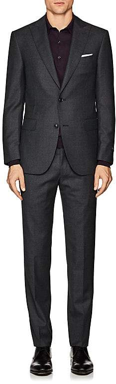 Pal Zileri MEN'S CHECKED WOOL TWO-BUTTON SUIT