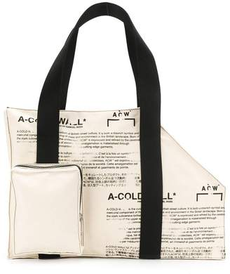 A-Cold-Wall* asymmetric structured tote bag