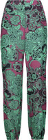 M Missoni Printed silk crepe de chine straight-leg pants