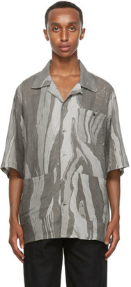Nicholas Daley Grey Aloha Short Sleeve Shirt