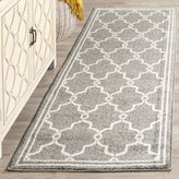 Safavieh Amherst Collection AMT414R Dark Grey and Beige Indoor/Outdoor Runner, 2 Feet 3-Inch by 7 Feet