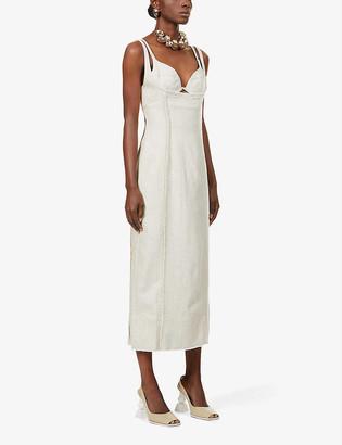 Jacquemus La Robe Valerie woven midi dress