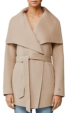 Soia & Kyo Brit Double Face Wool-Blend Draped Collar Coat