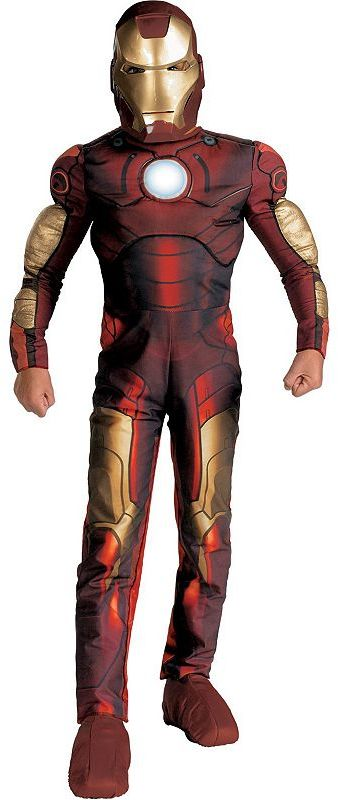 Iron man™ movie light-up muscle chest costume