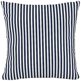One Kings Lane Further 20x20 Pillow - Navy Stripe