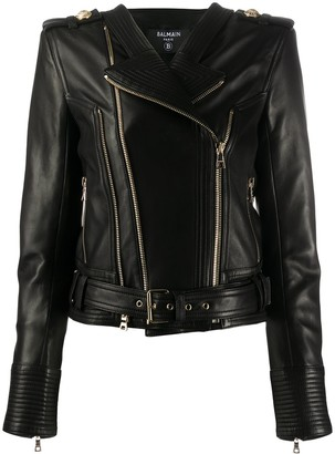 Balmain Zipped Biker Jacket