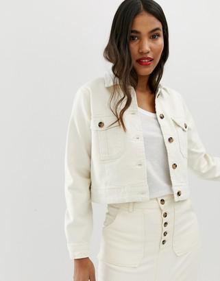ASOS DESIGN DENIM Premium utility jacket in off