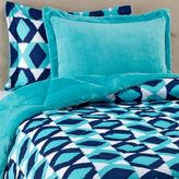 Bed Bath & Beyond Suri Printed 3-Piece Full/Queen Reversible Plush Down ALternative Comforter Set in Turquoise