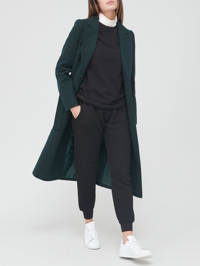 Thumbnail for your product : Very Longline Belted Coat - Green
