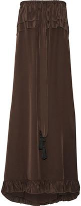 See by Chloe Ruffled Silk Crepe De Chine Midi Dress