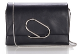 3.1 Phillip Lim Alix Flap Clutch in Black