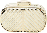 Arden B Metal Chevron Box Clutch