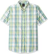 RVCA Men's Stanek Plaid Short Sleeve Shirt