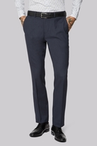 Moss Bros Wool Rich Machine Washable Navy Fleck Puppytooth Pants