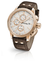 TW Steel Ceo Adesso, Rose, Chrono, Date, White Dial, Brown Lthr