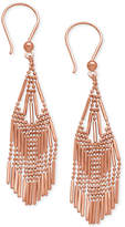 Macy's Beaded Fringe Chandelier Earrings in 14k Rose Gold