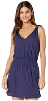 Becca by Rebecca Virtue Breezy Basics Tie Shoulder Dress Cover-Up (Navy) Women's Swimwear