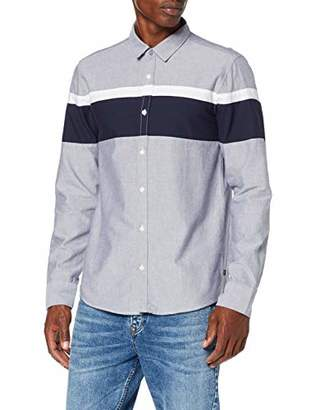 Melange Home Q/S designed by Men's 40.909.21.8203 Casual Shirt, (Blue Nights 58w0), Small