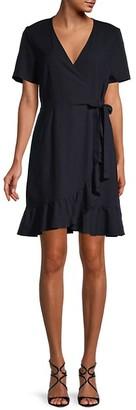Vero Moda Short-Sleeve Ruffle Wrap Dress