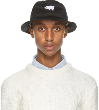 Thom Browne Black Classic Bucket Hat
