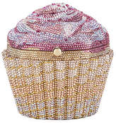 Judith Leiber Couture Strawberry Cupcake Crystal Evening Clutch Bag, Gold/Rose/Multi