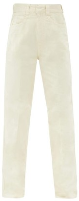 Lemaire High-rise Wide-leg Jeans - Ivory
