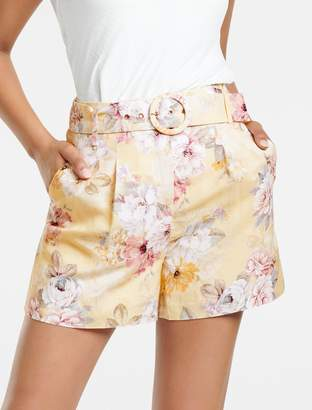 Forever New Luca Linen-Blend Shorts - CITRUS BOUQUET - 4