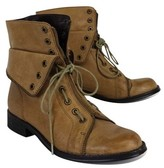 Candela Tan Leather Combat Boots