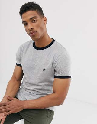 French Connection ringer t-shirt-Grey