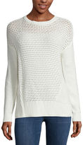 STYLUS Stylus Long-Sleeve Pointelle Textured Sweater - Tall