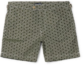Tom Ford Slim-Fit Mid-Length Circle-Print Swim Shorts