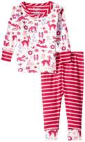 Hatley Woodland Tea Party Long Sleeve Mini Pajamas (Infant)