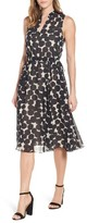 Anne Klein Women's Print Drawstring Midi Dress